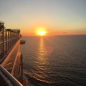 A beautiful sunset at sea