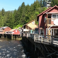 Ketchikan, Alaska - Creek Street in Ketchikan