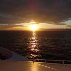 1st sunset of the cruise