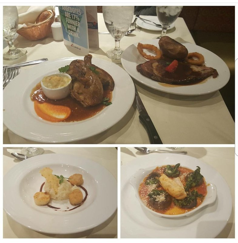 Yummy... Duck, Prime Rib, Scallops,  and Mushrooms... - Carnival Elation