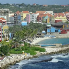 Leaving port in Curacao