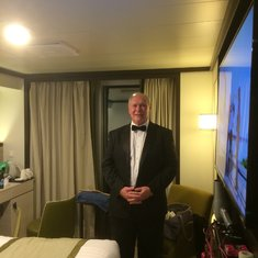 In  cabin ready for formal night.