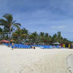 The main Beach-Coco Cay
