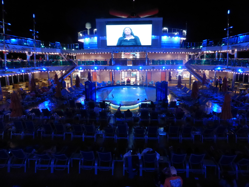 Popol Deck View at Night - Carnival Dream