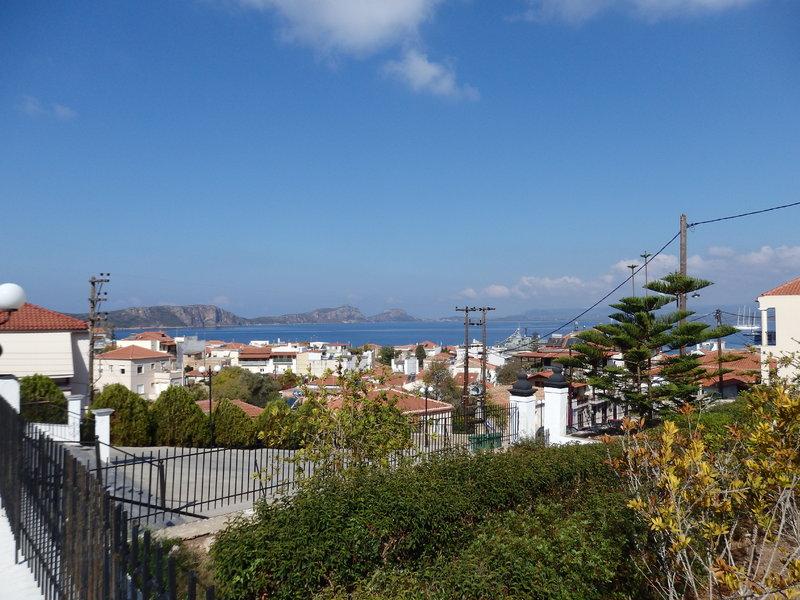 Paros, Greece - View of Pilos - ship to extreme right