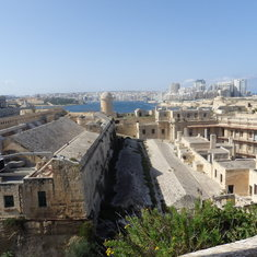 View of Valletta from fort