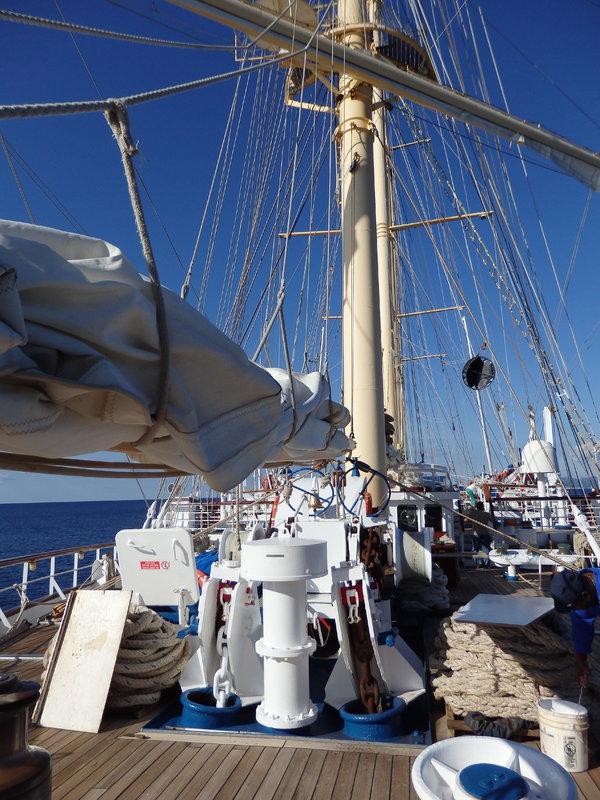 Sun Deck while sailing - Star Flyer
