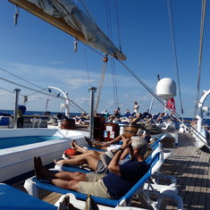 Sun Deck while sailing