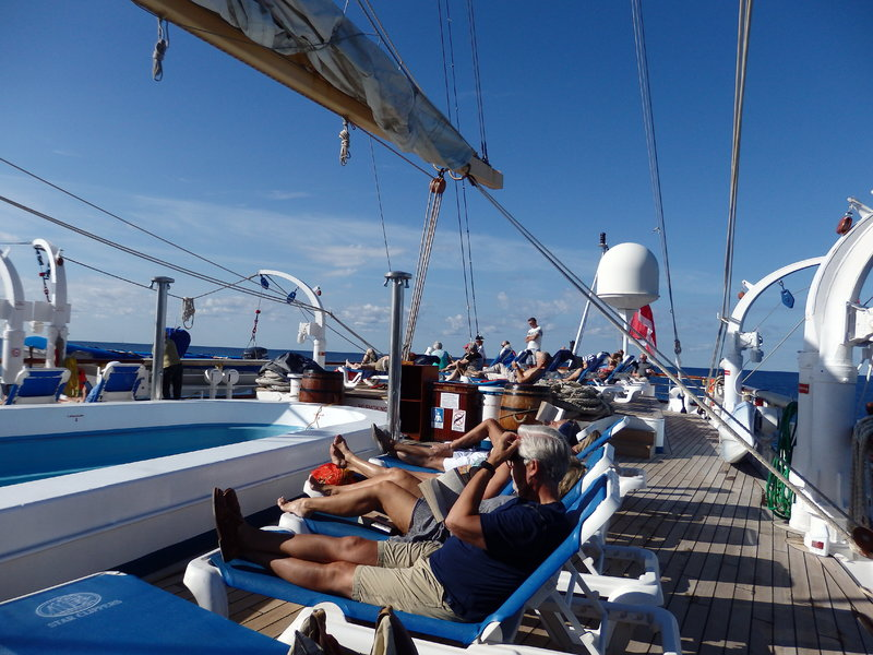 Sun Deck while sailing - Star Flyer