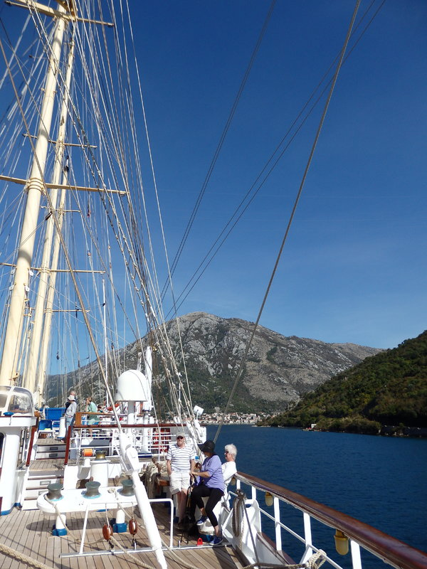 Sailing in Bay of Kotor - Star Flyer