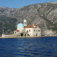 Church of Our Lady of the Rocks in Bay of Kotor