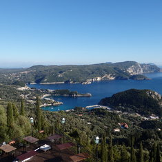Resort town on Corfu Island - Palaeokastritsa