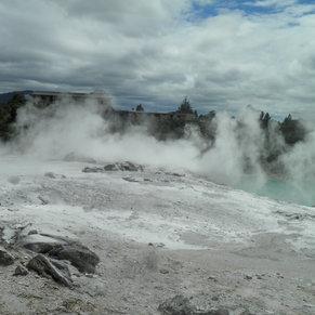 Volcanic rock pools