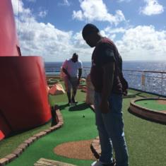 Mini Golf on Carnival Glory