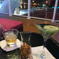 Shaker''s Cocktail Bar on the Waterfront on Norwegian Breakaway