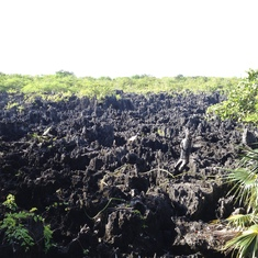 View of Hell's terrain in Hell, Cayman Islands