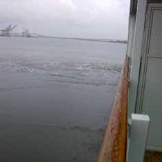 Jacksonville, Florida - Rain didnt dampen our sailing day.