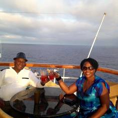 Long Beach (Los Angeles), California - Richard & Josephine having a blast upon the Carnival Imagination Cruise