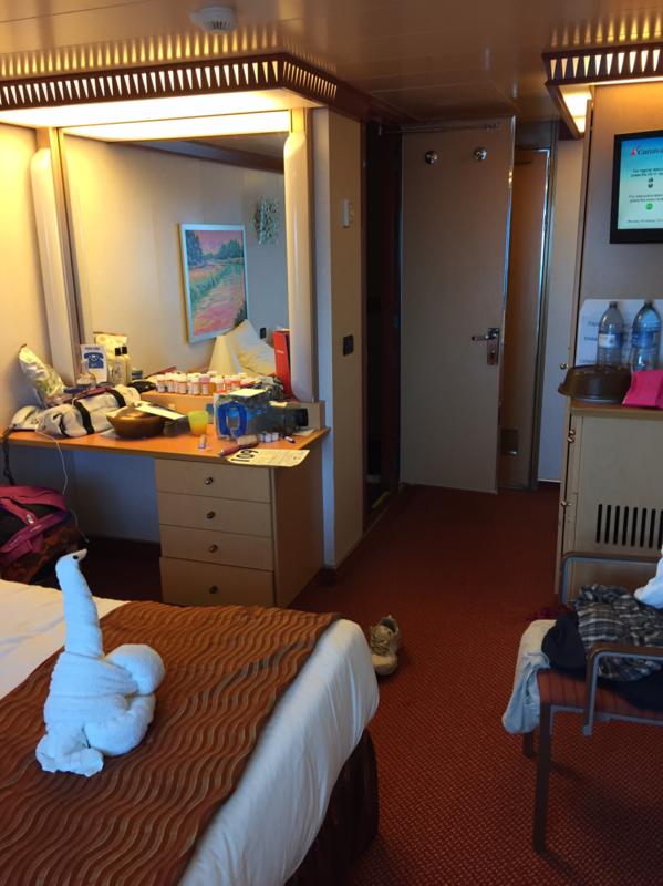 Inside Cabin 6206 on Carnival Dream, Category 4J