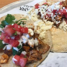 BlueIguana Cantina chicken tacos with watermelon salsa