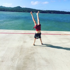 Handstands on the pier
