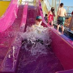 Little kids water slide