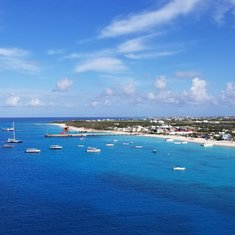 View of Grand Turk from top deck