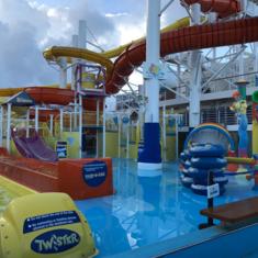 Carnival Waterworks on Carnival Vista