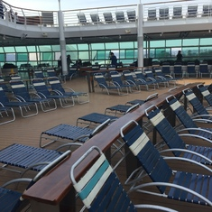 Deck Chairs on Pool Deck