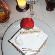 Surprise Anniversay Cake at Le Bistro with Seranade from Staff & Hubby