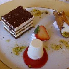 Trio of sweet Italian tempations