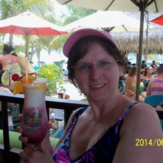Grand Turk Island - A raspberry something at Margaritaville.