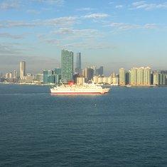 Hong Kong  on arrival