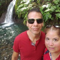 in front of Ecrevisses falls