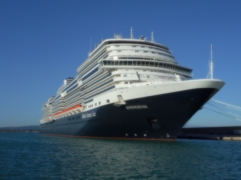 Koningsdam docked in Katakolon, Greece
