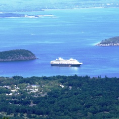 From Cadillac Mountain at Bar Harbor
