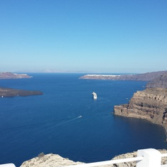 Santorini - the Caldera view