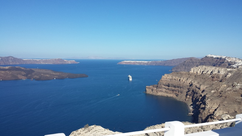 Santorini, Greece - Santorini - the Caldera view