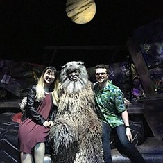Taking a Photo With Old Deuteronomy On Stage During the Intermission of Cats