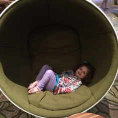 Egg chair at The Hideaway