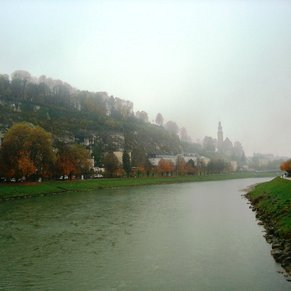 Beautiful view of Salzberg looking down the river.