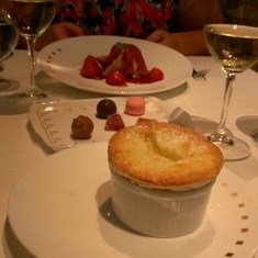 Grand Marnier soufflé at Murano aboard Celebrity Silhouette