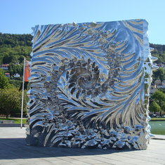 One of many beautiful sculptures around the city.