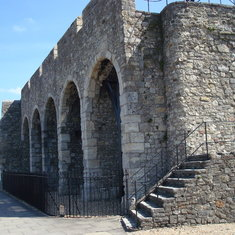 Some of the ancient walls still standing.