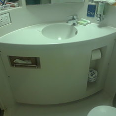 sink--no storage underneath