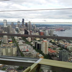 view of Seattle from the top of the Space Needle