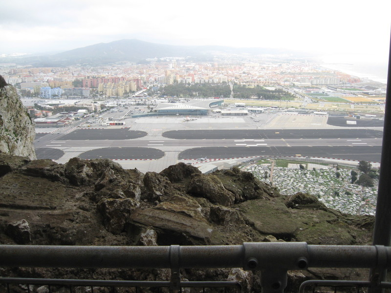 Gibraltar runway, notice Spain on the other side and road crossing the runway.  - Pacific Princess