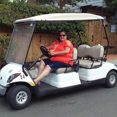 Golf cart in Catalina