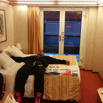 Interior w/ French Door Stateroom (Obstr View) on Carnival Pride