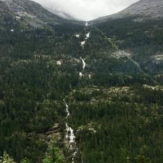 Waterfalls were everywhere in Alaska!